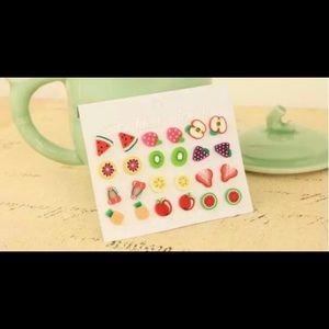 Super Cute Fruit Earrings 12pr.